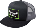 Kawasaki Racing Hat, Mesh Black and Gray 2501-2322