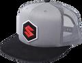 Vintage Suzuki MARK Hat, Mesh  White and Black 2501-2327