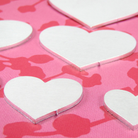 34mm BULK 2mm Heart Tag Stamping Tag Blank - 50pk