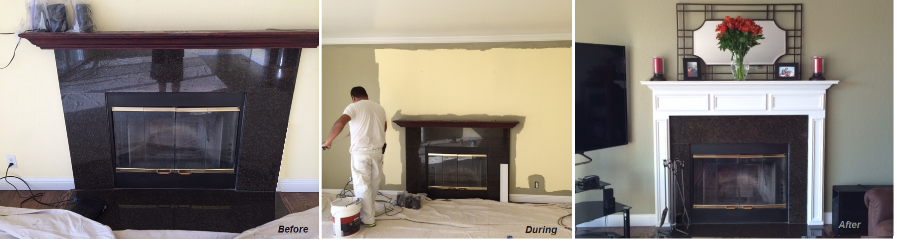 A White Fireplace Mantel