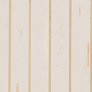 "Hand-scraped Ivory Plywood Paneling features a 4"" beaded pattern"