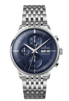 Junghans Watch Meister Chronoscope Sunray Blue Dial Steel Bracelet 027/4528.45 (40000897390464) for sale online