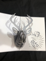 Handmade 3D Kirigami Card Deer Head
