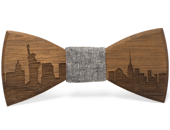 Skyline bow tie unique to Two Guys Bow Tie Co.