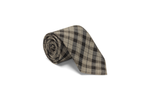 Black/Heather Gray Tartan - Neck Tie