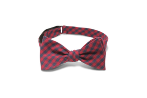 Navy and Red Buffalo Plaid - Bow Tie
