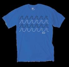 Harvest Blue Men's Organic T-shirts - Rising Tide Tee - Royal