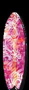 Surfboard graphic pink lava design