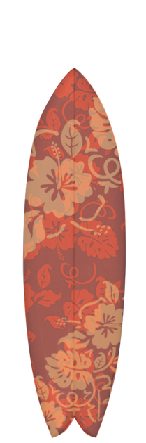 Surfboard Graphic Red Aloha Design