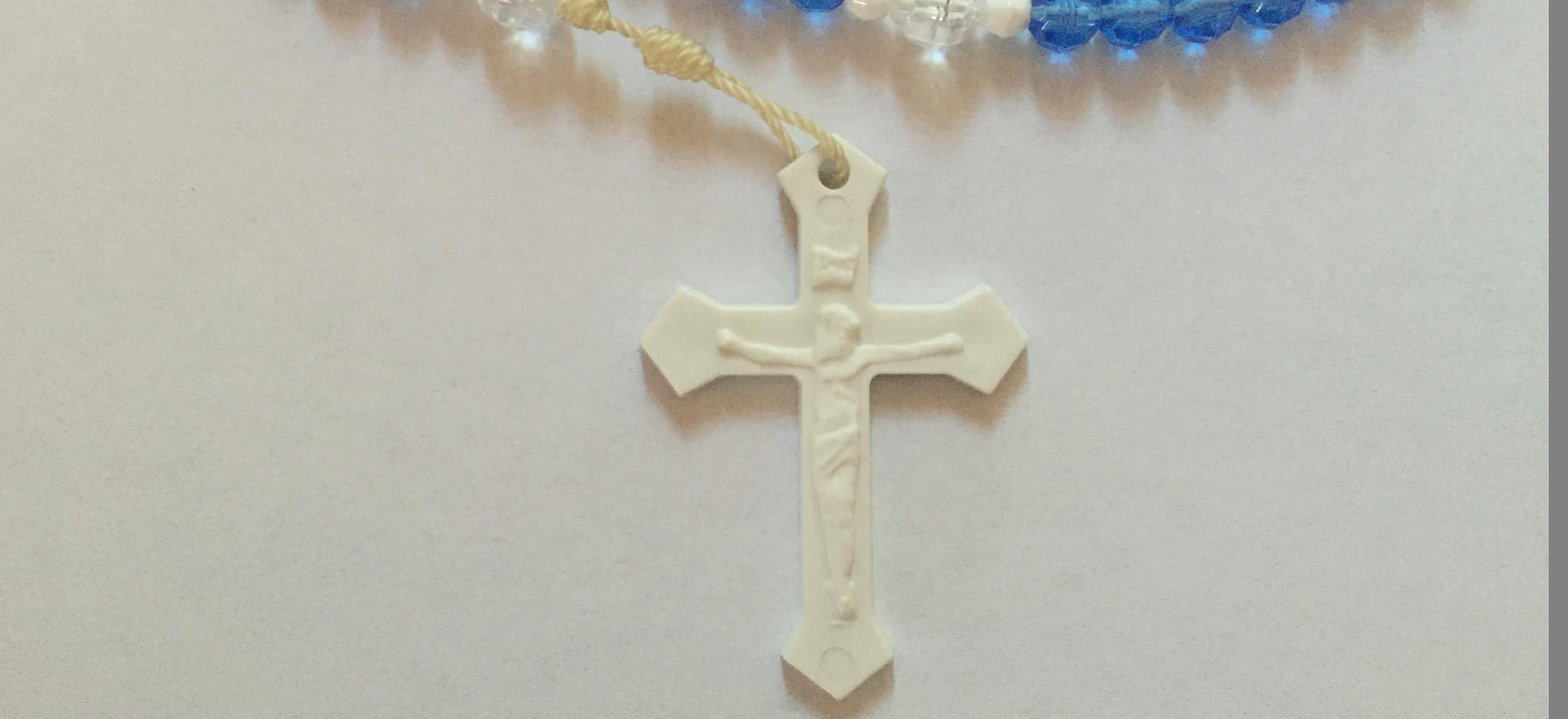 White Plastic Crucifix