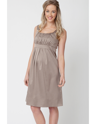 Champagne Ripe Maternity Alexis Satin Dress (Like New - Size Medium)