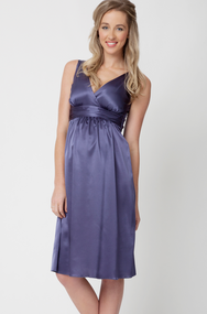 Purple Ripe Limited  Maternity Satin Maternity Occasion Dress (Like New- Large)