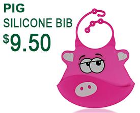 Pig Silicone Baby Bib