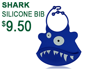 Shark Silicone Baby Bib
