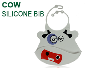Cow Silicone Baby Bib