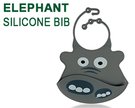 Elephant Silicone Baby Bib