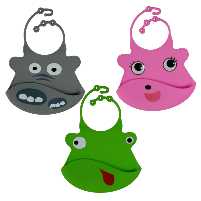 ILuvBaby Silicone Bib - 3 Pack Frog