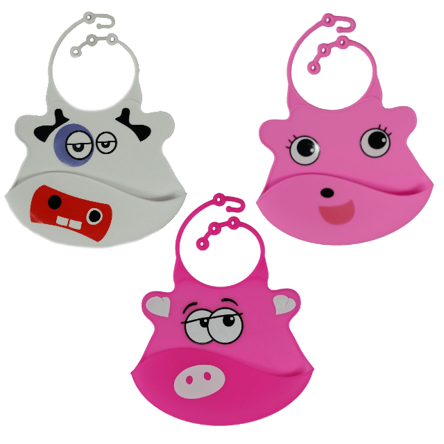 Silicone Baby Bibs with Crumb Catcher - Pack 1