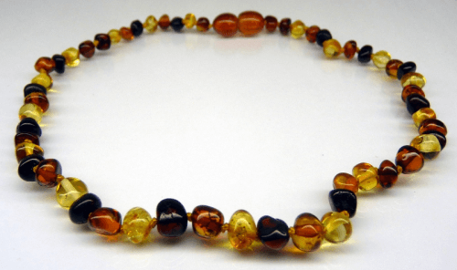 Amber Teething Necklace - Multi Colour