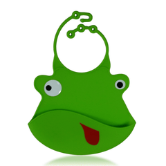 Silicone Baby Bibs with Crumb Catcher - Frog