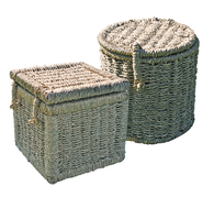 Seagrass Ashes Casket - Round