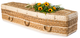 Traditional Shape Banana Leaf Casket with Funeral Flowers