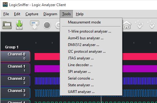 Decode and debug the I2C bus.    Many More Decoder Plugins   1-Wire Decoder, ASM45 Decoder, DMX512 Decoder, JTAG Decoder, Line Decoder, State Analyzer