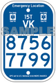 "6"" x 9"" Fully Printed Emergency Location Marker"