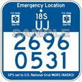 "12"" x 12"" Fully Printed Emergency Location Marker"