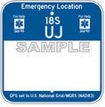 """12"""" x 12"""" Partially Printed Emergency Location Marker"""