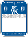 """9"""" x 12"""" Partially Printed Emergency Location Marker"""