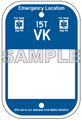 """6"""" x 9"""" Partially Printed Emergency Location Marker"""