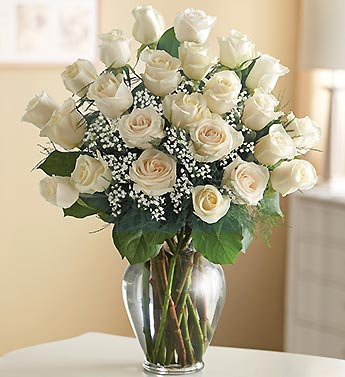 White Roses In A Vase Arizona Rose Flower Company