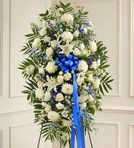 Deepest Sympathies Standing Spray Flower Arrangement