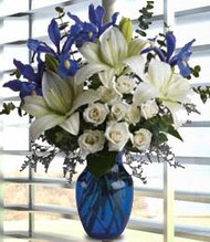 Over The Blue Horizon Flower Arrangement