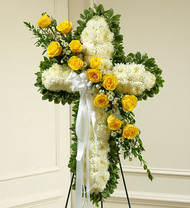 Peace and Prayers Standing Cross [Yellow]