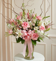 Beautiful Blessings Vase Pink Funeral Arrangement