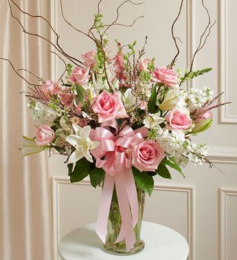 Beautiful Blessings Vase Pink Funeral Arrangement