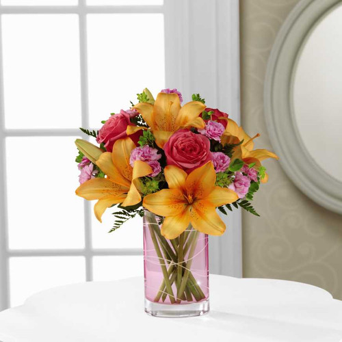 Gorgeous Roses And Lilies