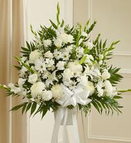White Sympathy Standing Basket in White