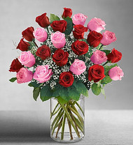 Ultimate elegance 4 Dozen Long Stem Pink & Red Roses