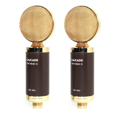 Cascade FAT HEAD II Stereo Pair Brown / Gold Lundahl Mics