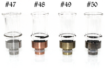 Wide Bore Glass Drip Tip