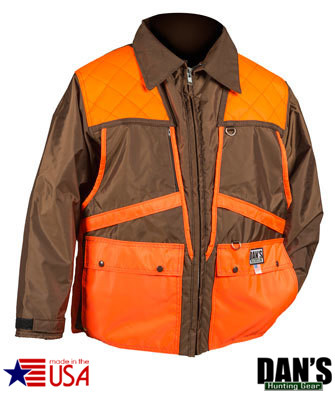Brown and Orange Briarproof Game Coat by Dan's Hunting Gear | Circle G Hunting Store