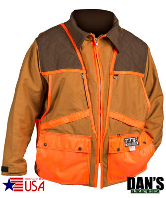 Brown and Orange Upland Game Coat by Dan's Hunting Gear | Circle G Hunting Store