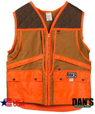 2bb122a946495 Brown and Orange Upland Game Vest by Dan's Hunting Gear | Circle G Hunting  Store