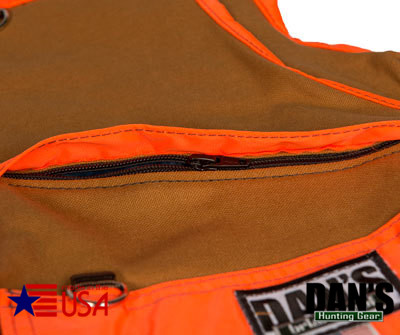 Brown and Orange Upland Game Vest by Dan's Hunting Gear | Circle G Hunting Store