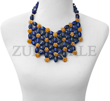 Zuri Perle Chic Quality Timeless Lapis Handmade  Necklace African Inspired Nigerian Designer