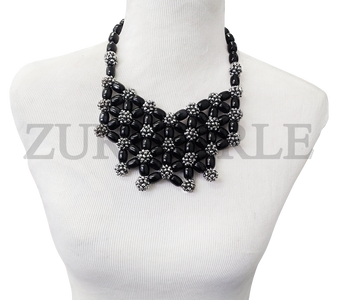 Zuri Perle Chic Quality Timeless Onyx Handmade  Necklace African Inspired Nigerian Designer