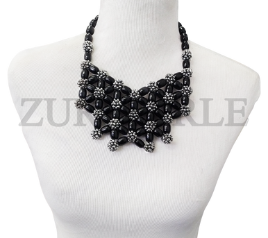 Zuri Perle Chic Quality Timeless Onyx Handmade  Necklace African Inspired Nigerian Designer